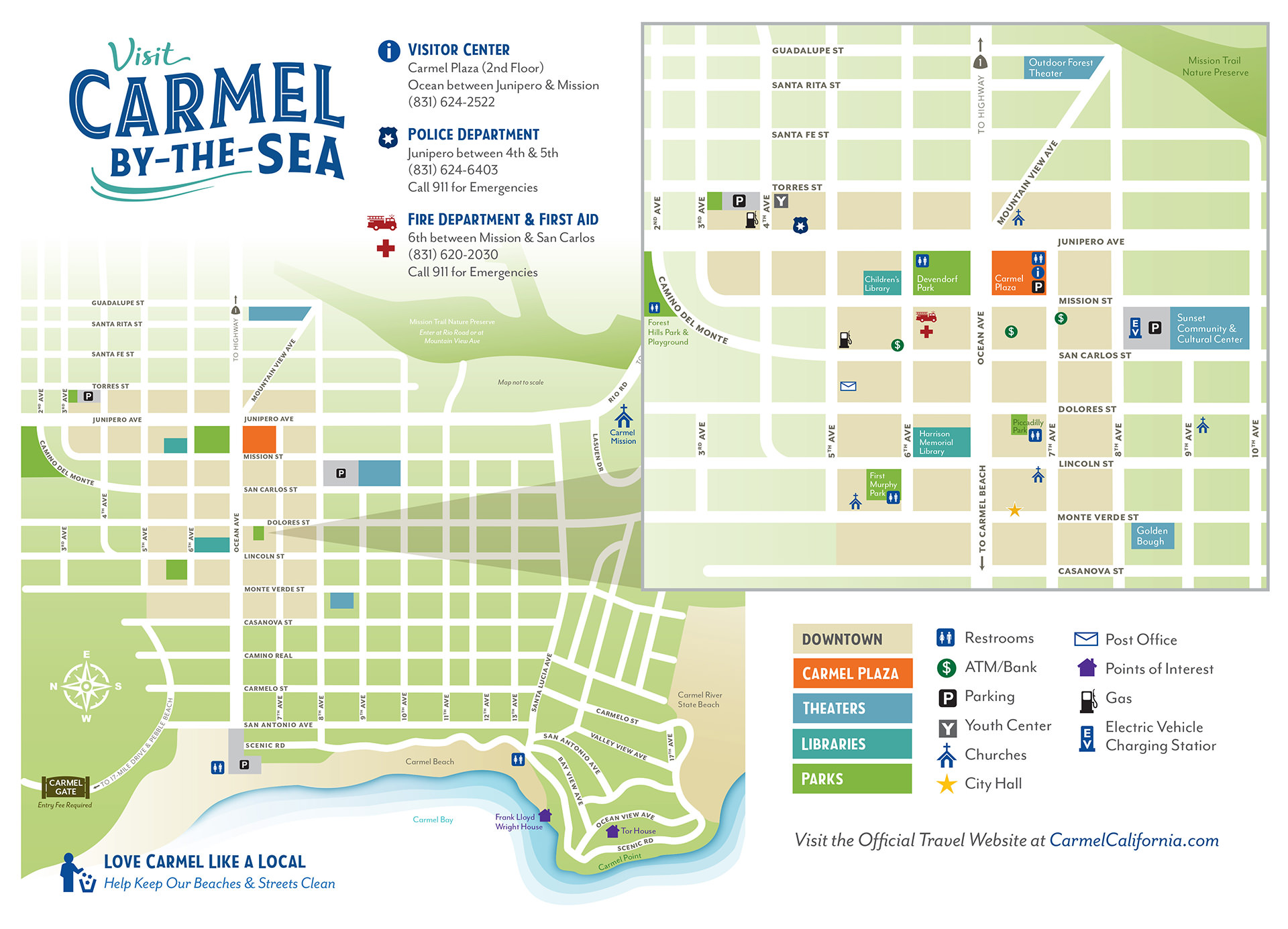 Carmel By The Sea Tour Map