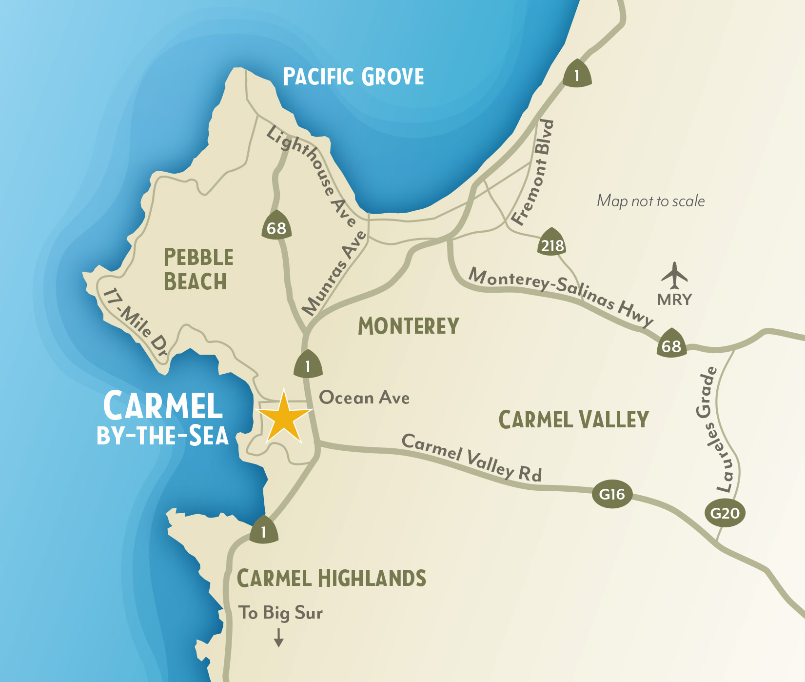 Getting to & Around Carmel-by-the-Sea, California on